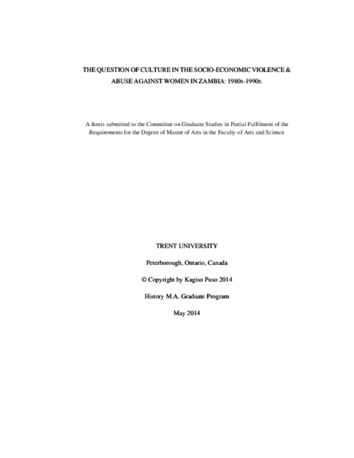 culture of violence thesis
