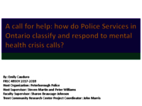 How do Police Services in Ontario Classify and Respond to Mental Health Crisis Calls? [presentation]