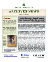 Trent University Archives News Number 61
