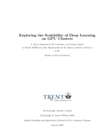 Exploring the Scalability of Deep Learning on GPU Clusters