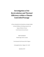 Investigation of Air Recirculation and Thermal Efficiency within a Climate Controlled Passage